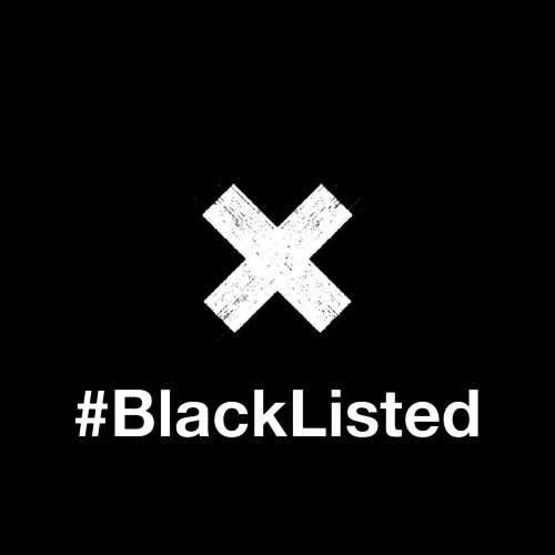 Logo for the #BlackListed Campaign